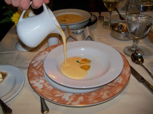 lovely bisque in the ships main dining room